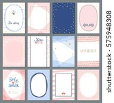 universal vertical cards... | Shutterstock .eps vector #575948308
