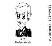 cartoon caricature character... | Shutterstock .eps vector #575949586