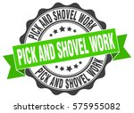 pick and shovel work. stamp.... | Shutterstock .eps vector #575955082