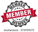 member. stamp. sticker. seal.... | Shutterstock .eps vector #575959075