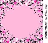 pink round circle border frame... | Shutterstock . vector #575963452