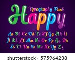 vector of abstract glossy font... | Shutterstock .eps vector #575964238