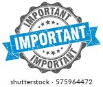 important. stamp. sticker. seal.... | Shutterstock .eps vector #575964472