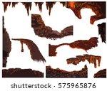 stones in the cave. platform...   Shutterstock .eps vector #575965876