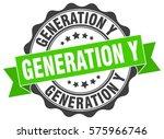 generation y. stamp. sticker.... | Shutterstock .eps vector #575966746