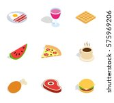 food and drinks icons set.... | Shutterstock .eps vector #575969206
