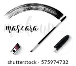 vector make up cosmetic mascara ... | Shutterstock .eps vector #575974732