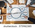 e commerce marketing plan... | Shutterstock . vector #575982385