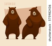 set of brown bears. cartoon...