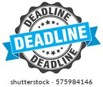 deadline. stamp. sticker. seal. ... | Shutterstock .eps vector #575984146