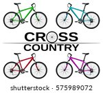 cross country bikes in... | Shutterstock .eps vector #575989072