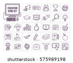 education icon set | Shutterstock .eps vector #575989198