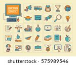 education icon set | Shutterstock .eps vector #575989546
