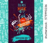 jazz music poster  ticket or... | Shutterstock .eps vector #575993236