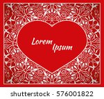 holiday  postcard  frame for... | Shutterstock .eps vector #576001822