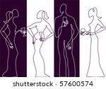 cocktail party silhouette | Shutterstock .eps vector #57600574
