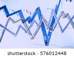Glassy Forex Trading Illustration 3D Rendered. Abstract Forex Trader Business Concept. - stock photo
