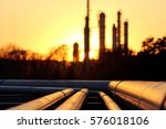 pipes system against the sun in ... | Shutterstock . vector #576018106