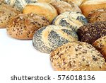 different kinds of buns on a... | Shutterstock . vector #576018136