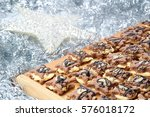 group of christmas sweets on... | Shutterstock . vector #576018172