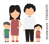 happy family vector icon with... | Shutterstock .eps vector #576028192