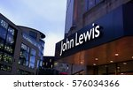 Small photo of EDINBURGH, SCOTLAND, UK - JANUARY 31, 2017: The outside of John Lewis Departmentstore in the evenging.