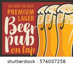 vector banner for pub with... | Shutterstock .eps vector #576037258