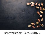 assortment of chocolates with... | Shutterstock . vector #576038872