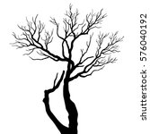tree silhouettes | Shutterstock .eps vector #576040192