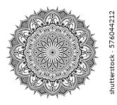 mandala. ethnic round ornament. ... | Shutterstock .eps vector #576044212
