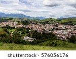top view of itanhandu  a small... | Shutterstock . vector #576056176