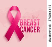 breast cancer awareness ribbon... | Shutterstock .eps vector #576066646