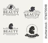 vector vintage logo set for... | Shutterstock .eps vector #576070048