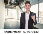 young asian business man... | Shutterstock . vector #576070132