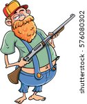 cartoon redneck with a rifle...
