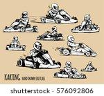 karting sketch illustration