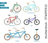 types of colorful bicycles ...   Shutterstock .eps vector #576095512