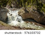 waterfalls yellowstone national ... | Shutterstock . vector #576103732