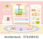 baby room with a window  shelf  ... | Shutterstock .eps vector #576108142