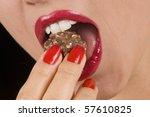 macro of a beautiful woman...   Shutterstock . vector #57610825