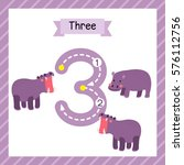 cute children flashcard number... | Shutterstock .eps vector #576112756