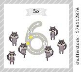 cute children flashcard number... | Shutterstock .eps vector #576112876