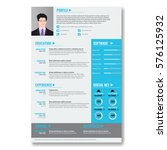 vector creative minimalist cv... | Shutterstock .eps vector #576125932