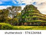 ko ker pyramid of cambodia ... | Shutterstock . vector #576126466