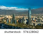 skyline of santiago de chile... | Shutterstock . vector #576128062
