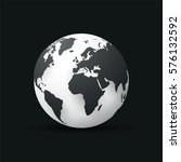 black earth globe world map...