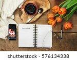 overhead shot of an open food...   Shutterstock . vector #576134338