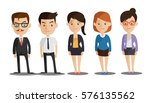 group of business men and women ... | Shutterstock .eps vector #576135562