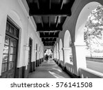 empty corridor hallway with... | Shutterstock . vector #576141508