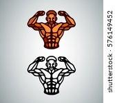 athletic man torso icon. simple ... | Shutterstock .eps vector #576149452